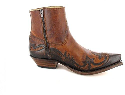 Sendra Boots 5790 Jacinto Tang/ Damen und Herren Westernstiefelette Braun/ Cowboystiefelette Jacinto Tang