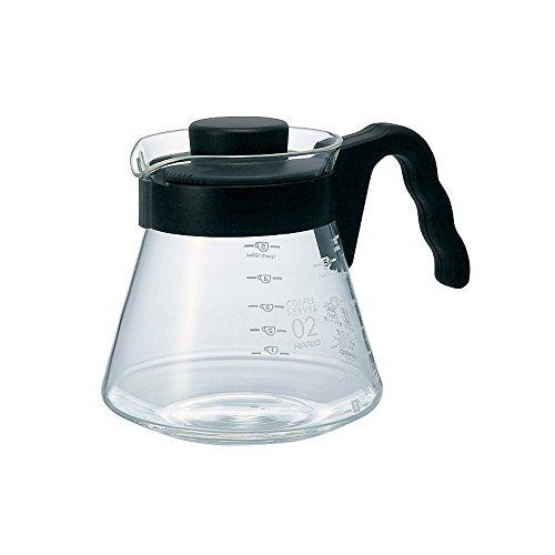 Hario V60 Glass Coffee Server (700ml, Black)