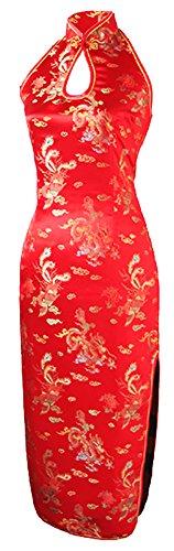 Chinesische Drachen (7Fairy Damen Rot Rückenfrei Hochzeit Chinesisch Kleid Lang Drachen Hälfte ter Größe De 36)