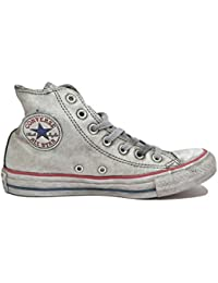 MainApps - Zapatillas Converse All Star Limited Edition, de piel, blancas, para hombre y mujer, mujer, 158576C, gris, 6.5