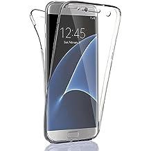 Vahalla Accesorios Funda Doble 360 Delantera y Trasera Gel Transparente para Samsung Galaxy S7 Edge Ultra Fina - Silicona TPU - Alta Resistencia