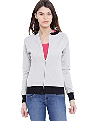 Campus Sutra Women Grey Zipper Jacket(AW16_ZHBDR_W_PLN_GRBL_M)