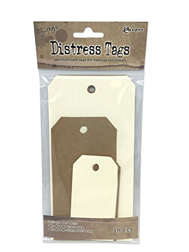 Ranger Distress Tag Sortiment, Papier, Mehrfarbig, 16,5x 8,5x 0,9cm - Papier Distress