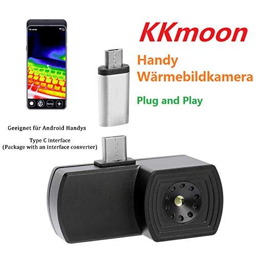 KKmoon Handy Wärmebildkamera Type C Schnittstelle Kompatibel mit Android/iOS Smartphones - Schwarz
