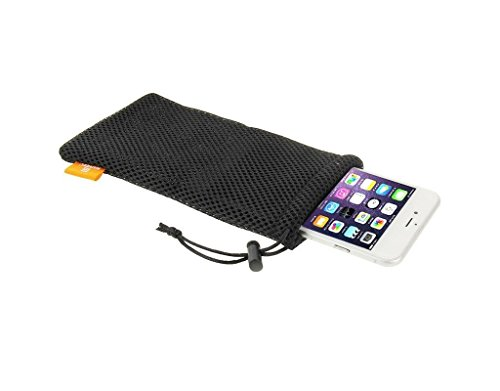 Price comparison product image Fone-Stuff Mobile Phone Pouch Case,  HAWEEL® - Universal Nylon Mesh,  Anti-Condensation Drawstring Protective Cover Bag for Cards,  i.ds,  Apple iPhone in Net Black