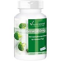 Brokkoli-Extrakt 450mg - Großpackung mit 120 Tabletten - ! FÜR 40 TAGE ! - vegan - mit DIM (Diindolylmethan) und... preisvergleich bei billige-tabletten.eu