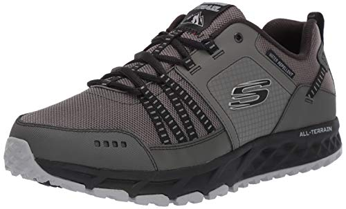 Skechers Herren Escape Plan Sneaker, Grau (Charcoal/Black), 42 EU