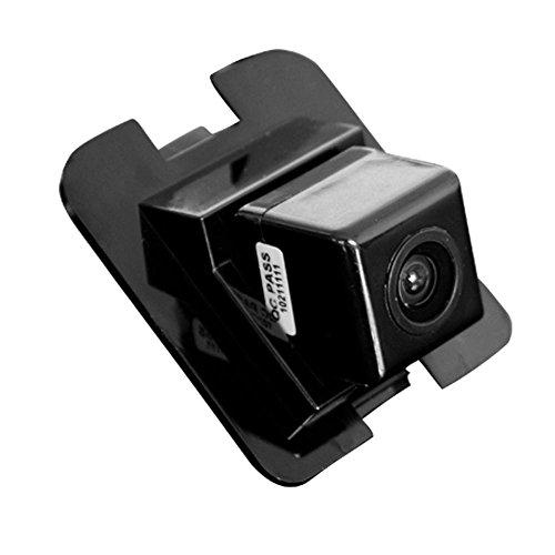 Navinio Rückfahrkamera wasserdicht Nachtsicht Auto Rückansicht Kamera Einparkhilfe Rückfahrsystem, Schwarz für Mercedes GLK C Klasse E Klasse S Klasse W204/ S204/ W212/ W221/ W216 S500 Kamera