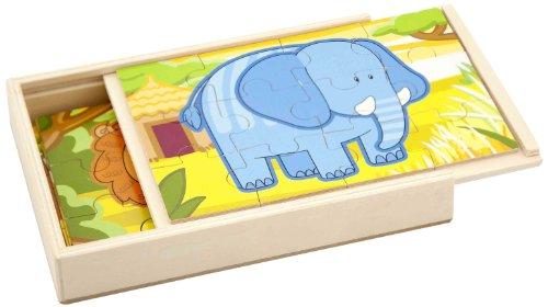 Sapin Malin - Sm50068 - Puzzle Classique - Panoramique 4 En 1 - Jungle
