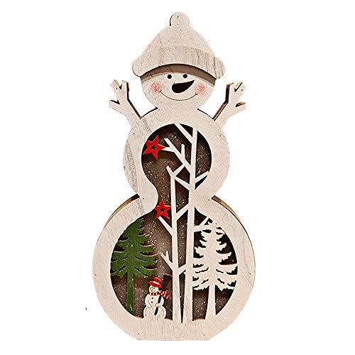 LEEDY - Adornos para árbol de Navidad con luz LED para decoración de día Festivo, decoración de Navidad, Adornos Colgantes