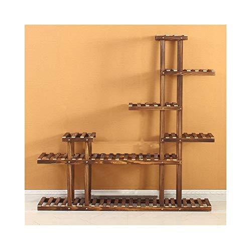 Kiefer Waschbecken (LIUYUNLI 7-Schicht Blumenständer Multi-waschbecken Rack Holzpflanze Rack Garten Rack Display Rack Multifunktionsspeicher Bücherregal (120 * 25 * 120 cm) (Color : A))