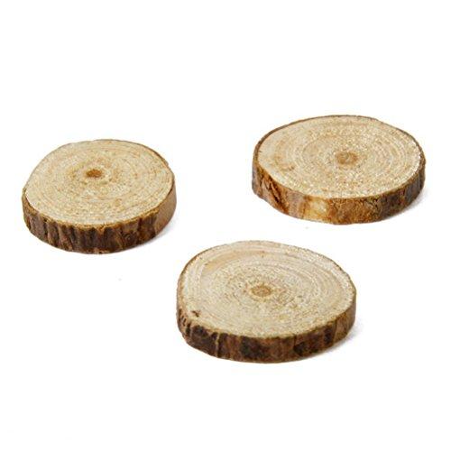 winomo 100pz rotondo dischi di legno naturale fai da te