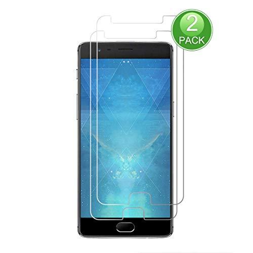 X-Dision Displayschutzfolie,kompatibel mit OnePlus 3,[2 Stück] Premium-Schutzfolie der 2.5D Double Defense-Serie,Schutzhülle aus 9H-Hartglas,[Anti-Fingerprint und Anti-Scratch]