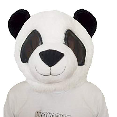 SANEYDER Plüsch-Panda Kopfmaske Halloween Panda Maskottchen Kostüm