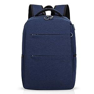 FANDARE Mochila para portátiles, 15.6 Pulgadas Mochila USB Mochila de Portátil Bolso, Impermeable Bolsa Viajes para Colegio Viaje Negocios, Hombre/Mujer, Impermeable Poliéster Azul