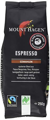 Mount Hagen Espresso gemahlen FairTrade, Naturland (1 x 250 g) - Bio