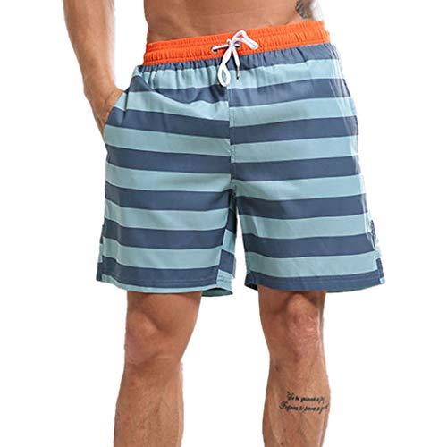 JiaMeng Bañador Estampado Beach Shorts Swim Drawstring Trunks Shorts de  natación para Correr en la Playa c56fadd090c