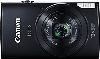 "Canon IXUS 170 - Cámara compacta de 20.5 MP (Pantalla de 2.7"", Zoom óptico 12x, estabilizador óptico, Video Full HD), Negro (B00RYV9R20) 