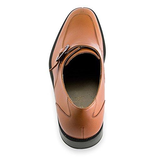 Masaltos Chaussures Réhaussantes Pour Homme avec Semelle Augmentant la Taille JusquÀ 7cm. Fabriquées en Peau. Modèle Belfort Marron