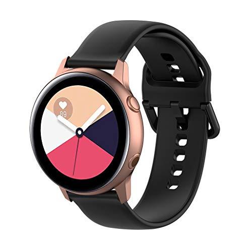Waotier für Samsung Galaxy Watch R500 Armband Größe S Silikon Armband für Samsung Galaxy Watch R500 mit Schnellverschluss wasserdichte Armband für Männer und Damen Sportliche Armbänder (Schwarz) (Pebble-uhr-ersatz-akku)