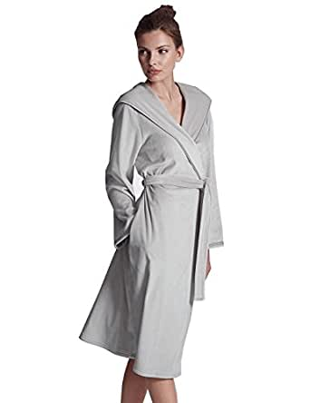 Marks and Spencer Autograph Luxury Hooded Dressing Gown Pearl Grey M&S Robe (20-22 Long)