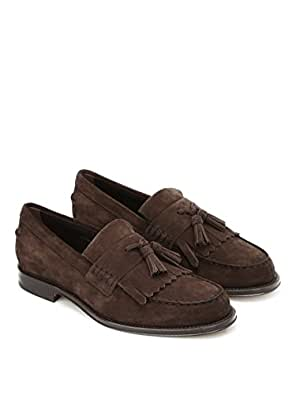 2e83646f84 Tod's Mocassini con Frangia Marrone Uomo 10: Amazon.it: Scarpe e borse
