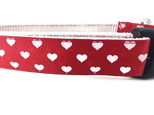 caninedesign Qualität Halsbänder Hundehalsband, Spring, caninedesign, Valentinstag, St. Patricks Day, Ostern, 2,5cm breit, verstellbar, Nylon, mittelgroß und groß (Herzen, groß 15-22)