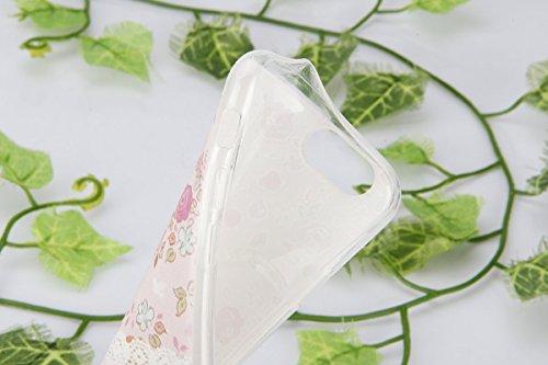 Coque Housse pour iPhone 6, iPhone 6 Coque Silicone Etui Housse, iPhone 6s Souple Coque Etui en Silicone, iPhone 6 / 6s Silicone Transparent Case TPU Cover, Ukayfe Etui de Protection Cas en caoutchouc Fleurs #2