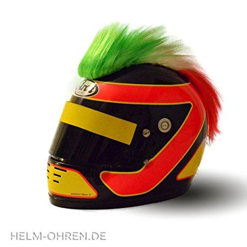 Helm - Irokese für den Motorradhelm, Skihelm, Snowboardhelm, Fahrradhelm oder Kinderhelm - Coole Helmdeko / Irokesenaufsatz - Helmirokese Punk Iro (Italien -...