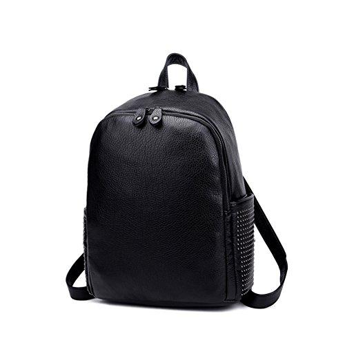 Die koreanische Version von gewaschenem Leder Rucksack/Frauen Taschen/Niet-Pack/Travel and Leisure Taschen/Schultaschen-A A