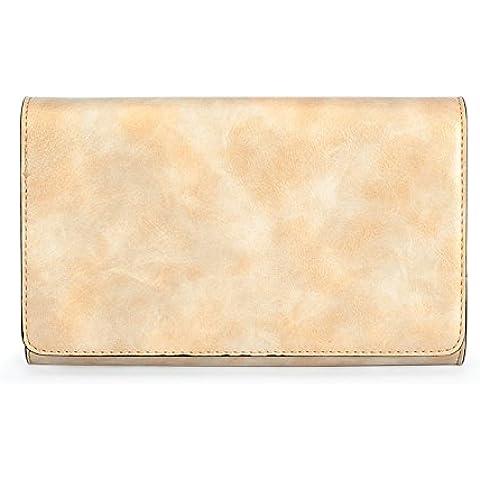 LXL KIU Signora borsa frizione magica/Borsa alla moda/Tracolla di pelle di cera/Sacchetto di diagonale