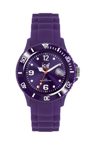 Ice-Watch Unisex Quartz Watch with Purple Dial Analogue Display and Purple Silicone Strap
