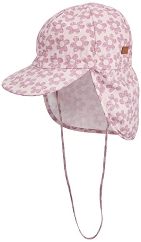 Melton Mädchen Kappe Sonnenkappe mit Nackenschutz UV30+, Gemustert,  Mehrfarbig (Very Grape 713) 3ff94f6118