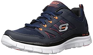 Skechers Flex Advantage Men's Low-Top Sneakers, Azul (Blau (Nvor)), 5.5 UK