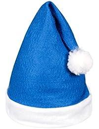 Alsino 24 Stk. Weihnachtsmütze Nikolausmütze blau weiß mit Bommel 31