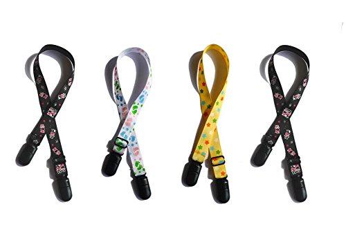 4pcs regolabile tovaglioli a cordino da collo bavaglino Infant saliva morsetto Pinafore clip di bloccaggio per anziani/adulto/bambino (colore casuale)