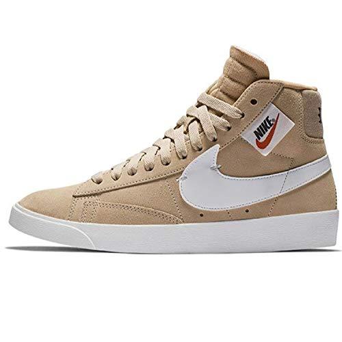 Nike Damen W Blazer Mid Rebel Fitnessschuhe, Mehrfarbig (Bio Beige/Summit White/Black/Praline 200), 36.5 EU - Beige Praline