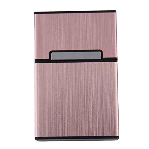 NAYUKY Leichte Aluminium-Zigarre-Zigaretten-Etui Tabak-Halter-Aufbewahrungsbehälter Raucherzubehör