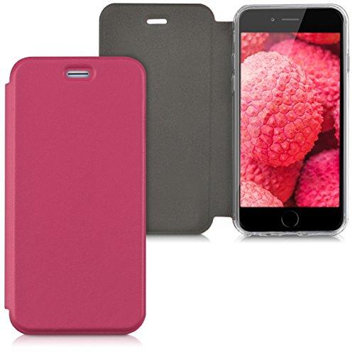 kwmobile Hülle für Apple iPhone 6/6S - Flipcover Case Handy Schutzhülle Kunstleder - Bookstyle Flip Cover Pink