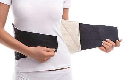 Pancera elastica termica lombare contro mal di schiena -fascia lombare contro il mal di schiena- cintura termica- x-large black