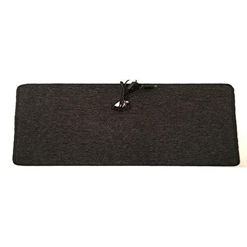 Infrarot Heizmatte 35x110cm Heiz-Teppich Fußwärmer Wärmematte Anthrazit Grau mit Schalter