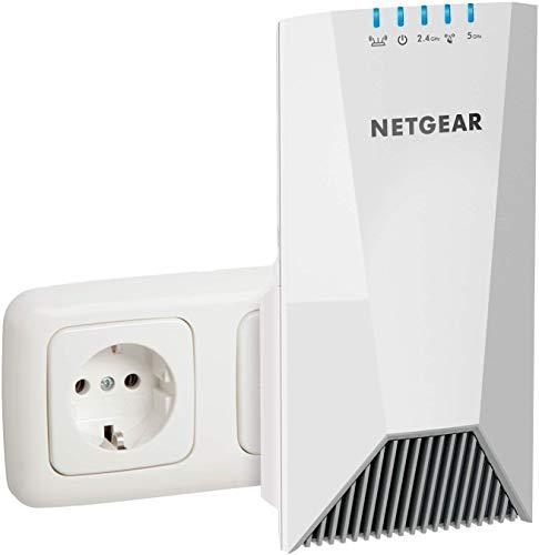 Netgear EX7500 Ripetitore WiFi Mesh, Copertura per 4-5 stanze e 20 dispositivi, Tri-band fino a 2200 Mbps, funzionalità Mesh con modem fibra e adsl