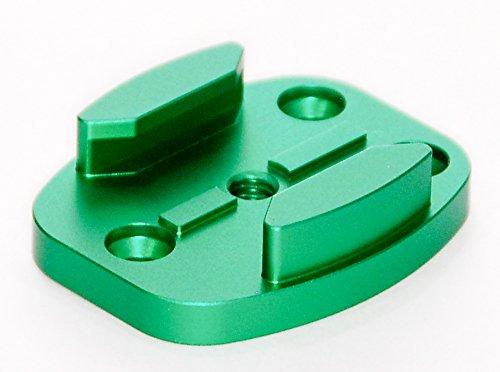 protastic CNC bearbeitete Aluminium Flache Oberfläche Halterung für GoPro, xiaomo, SJCAM Action Kameras * passt zu Skateboards etc. * (Skateboard Gopro)
