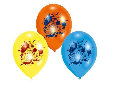 Riethmüller - 450238 - Décoration de Fête - 6 Ballons Latex Mickey Mouse