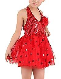 uirend Deportes Danza Ropa Vestidos Niña - Chicas Lentejuelas Disfraces Tutu Falda Costume Dancewear Concurso Traje