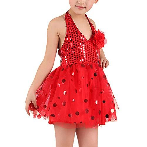 uirend Sport Tanzsport Bekleidung Röcke Mädchen - Kinder Glänzende Pailletten Kleid Tanzkleid Tutu Kostüm Bekleidung Party Halloween Karneval Performance ()