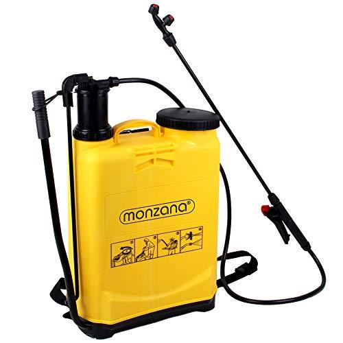 Monzana Drucksprüher Pflanzensprüher Rückenspritze | 4 Düsen | 16 Liter | Leicht zu reinigen