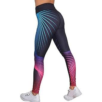 GreatestPAK Leggings des Femmes, Pantalons Courts de Sport de Sport d'entraînement de Gymnastique Maigre d'entraînement d'impression 3D (A-Multicolore, S)