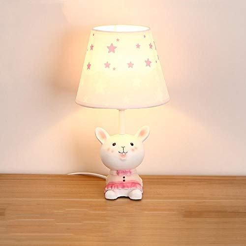 LED Kindertischlampe Jungen und Mädchen Schlafzimmer Nachttischlampe Kinderzimmer Cartoon Kleintier Tischlampe Nordic Tischlampe Hase