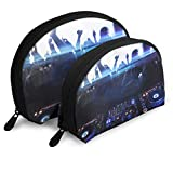 Portable Shell Makeup Storage Bags DJ Makes Me Crazy Travel Waterproof Toiletry Organizer Clutch...